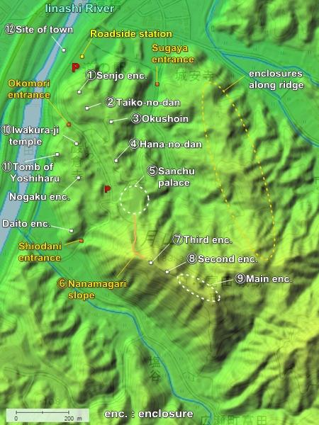 Gassantoda Castle topography