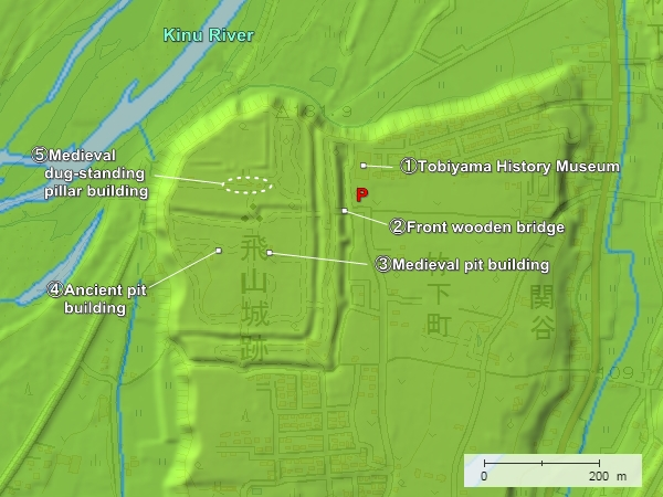 Tobiyama Castle topography