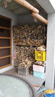 20131103 五右衛門風呂の薪
