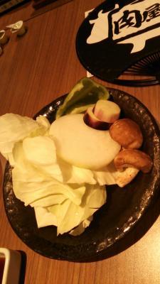 肉屋の台所(先付の野菜)