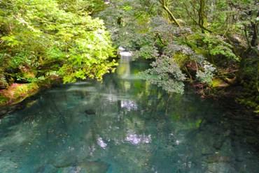 菊池渓谷水