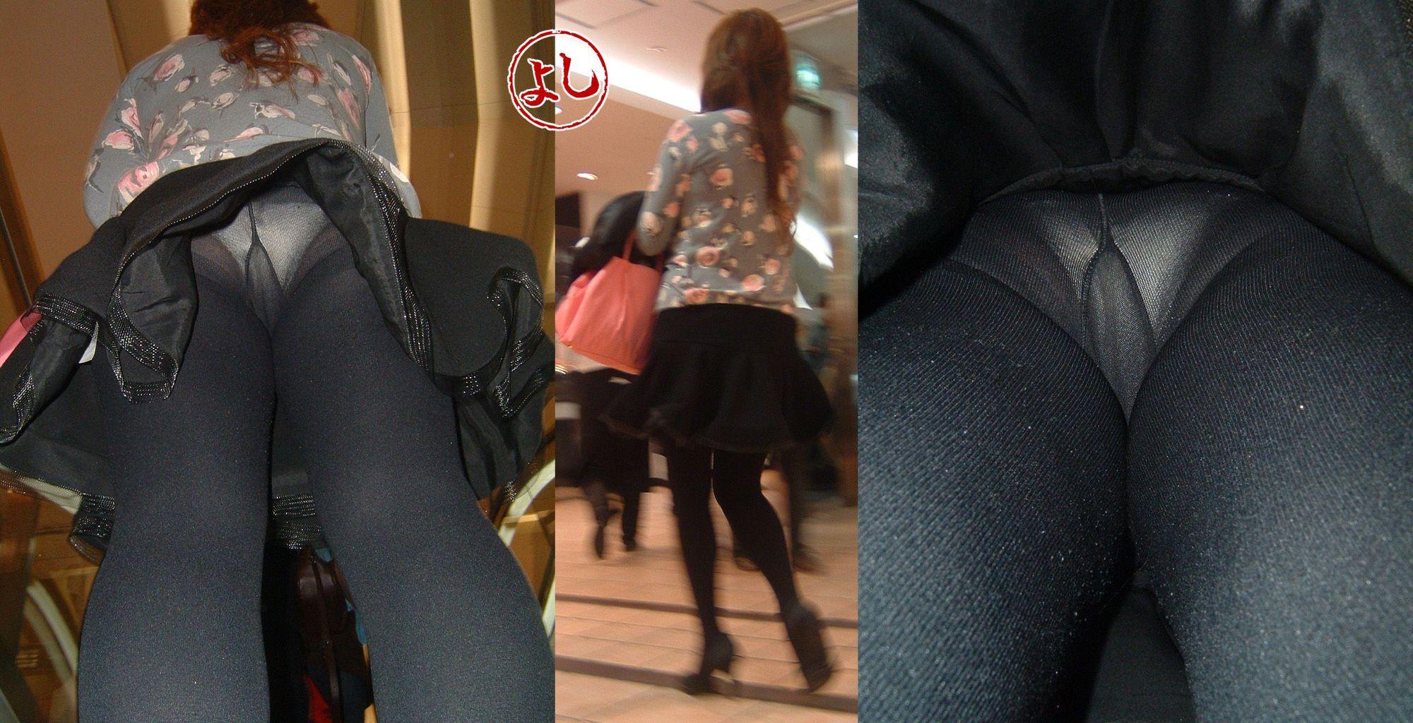 タイツ 逆さ DUGA - 黒パンスト女子校生 パンチラ 大全集 VOL.1