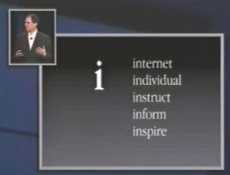 アップル製品の i の由来(1998年)