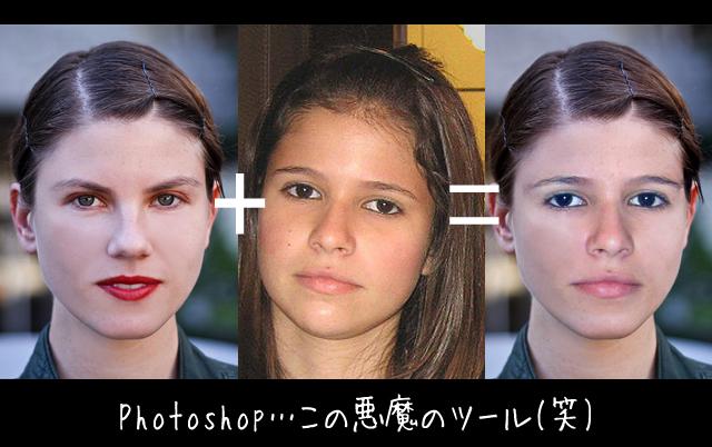 Photoshopの自動結合(パノラマ)を使って、顔を合成・移植する