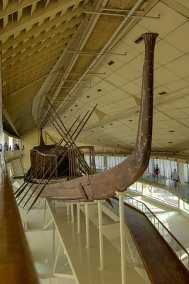 復元されたクフ王第一の船