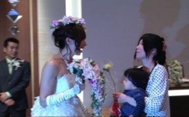 披露宴 奈々夫人友理子夫人