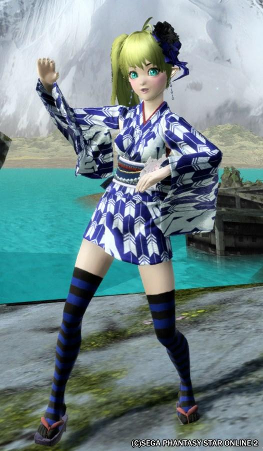 青縞タイツとユカタ