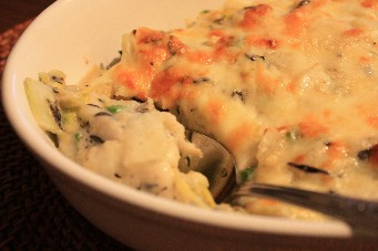 白菜と里芋の豆乳味噌グラタン2