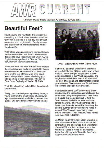 AWR CURRENT Spring 2001