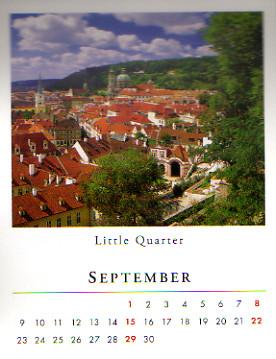 2013年のプラハ(チェコ) ポケットカレンダー 7月, 8月, 9月