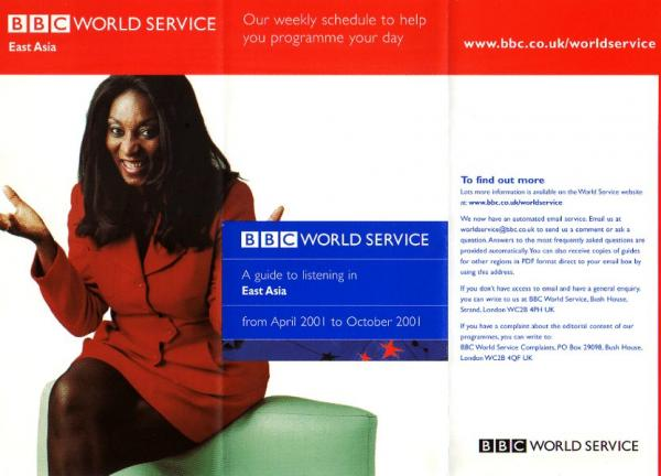 BBC WORLD SERVICE April 2001 to October 2001 East Asia