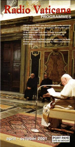 Radio Vaticana april-october 2001