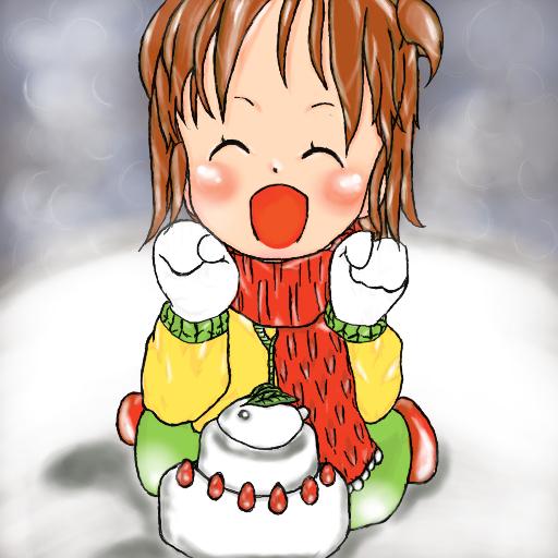 雪うさぎと