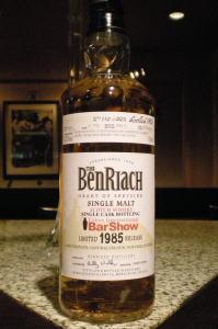 BENRIACH 1985 for Tokyo Bar Show 2013