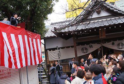 稲荷神社の節分祭-3