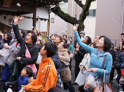 稲荷神社の節分祭-4