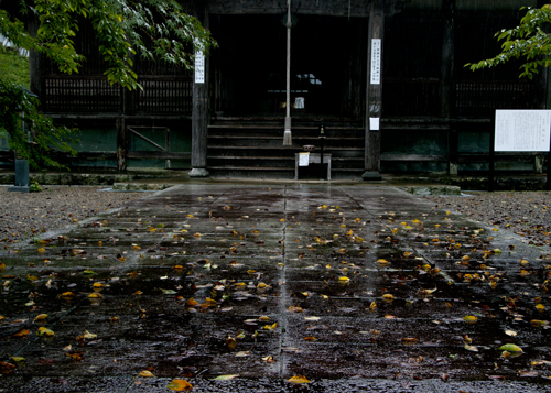 雨の境内2