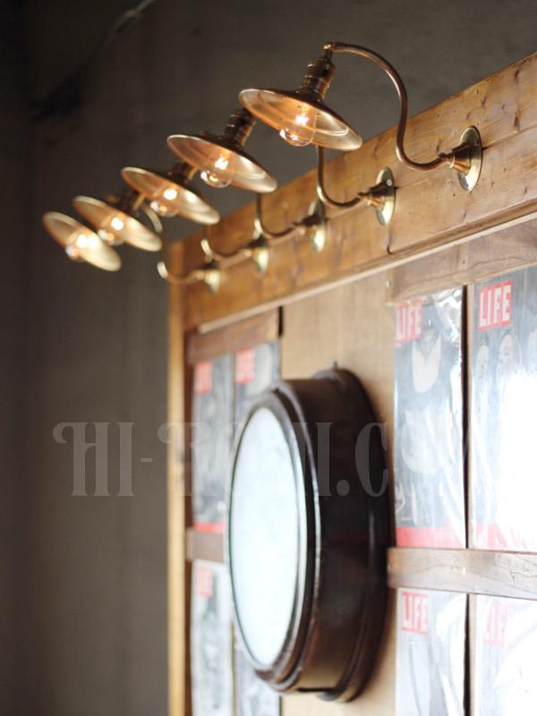 ヴィンテージ工業系平シェード角度調整付き真鍮ブラケット/アンティーク照明インダストリアルウォールランプ/店舗設計 建築 設計 利にベーション 照明計画 ライティング アンティーク ヴィンテージ