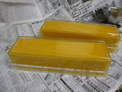 レッドパーム油の石けん2