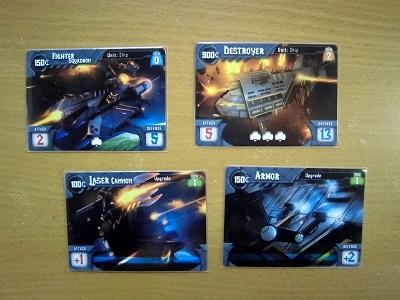 タイタニウム・ウォーズ 部隊カードと改良カード