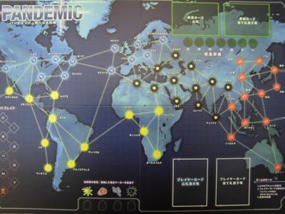 パンデミック:新たなる試練 ゲームボード