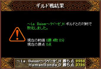 20140203 ~La Baiser~ラベーゼ_H様 結果