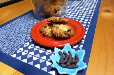 オートミールクッキーとゆずピールチョコ
