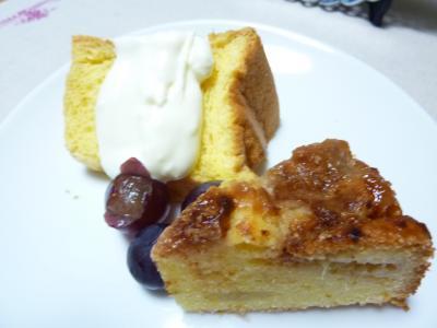シフォンとイチジクケーキ