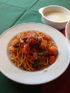 和野菜のパスタ