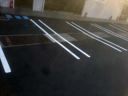 整体院の駐車場・心理戦前