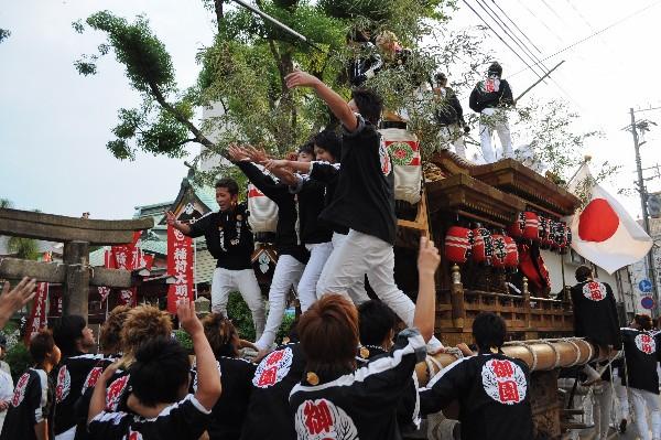 貴布禰神社夏季大祭 尼崎だんじり祭り 太鼓地車 パレード
