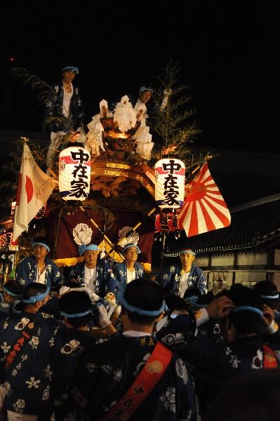 貴布禰神社夏季大祭 尼崎だんじり祭り  中在家地車宮入