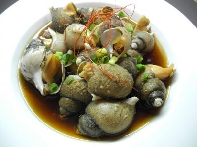 20140118バイ貝の韓国風煮