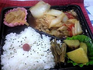 20121217野菜炒め弁当