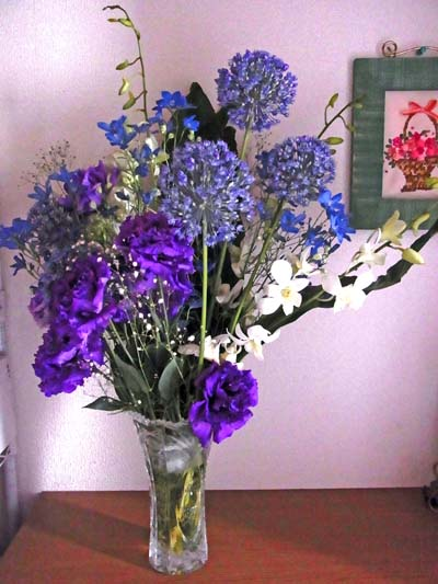 紫系の花 400