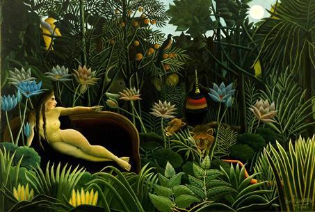 夢 1910年_Henri Rousseau