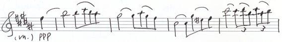 楽譜 幸福な思い出に 紐づけられた ひとつの記憶