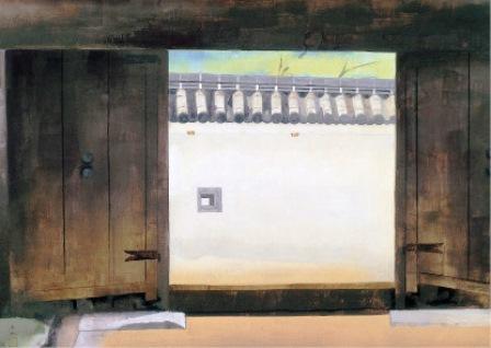 奥村土牛『門 』1967年