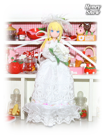 1/12DOLL 【ウエディングドレス】 武装神姫、figma、リボルテック、オビツ11、ピコニーモ