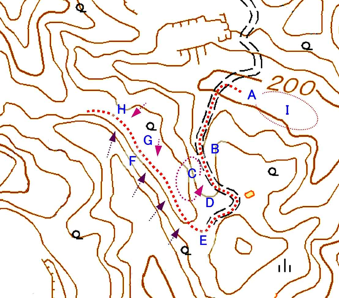 捜索エリア地図(2)