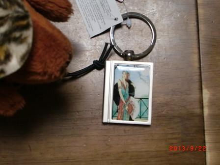 写真が入るキーホルダー