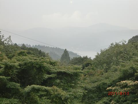 芦ノ湖、見えない