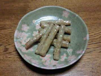 ごぼうとナッツの胡麻味噌漬