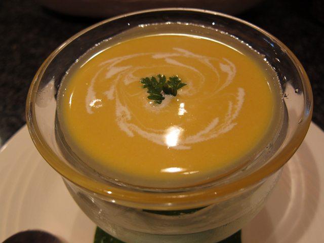 じゃか芋とカボチャの冷製スープ450円