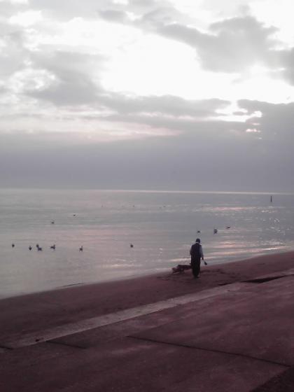 氷見の砂浜