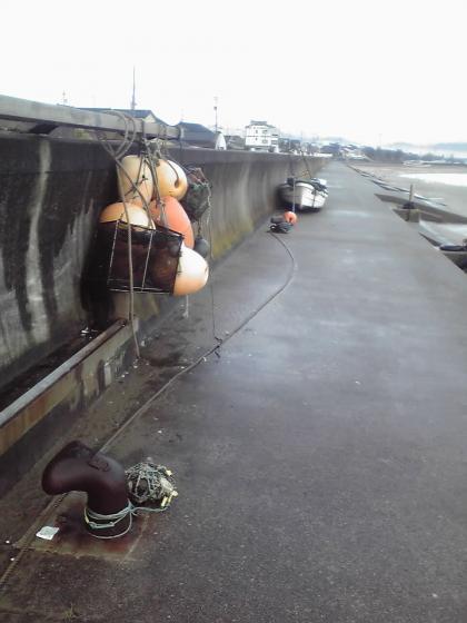 堤防とブイ