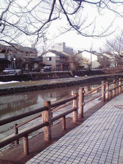 湊川沿いの歩道