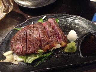 伊江島牛のステーキ