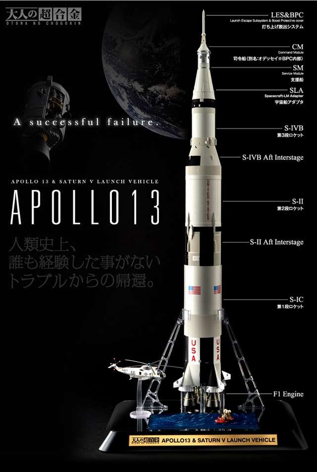 アポロ13号サターンV型ロケ