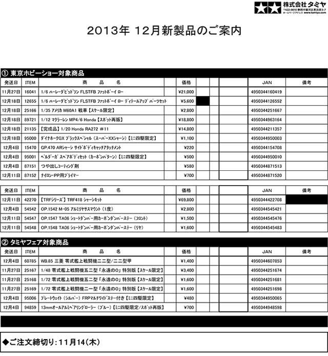 タミヤ12月new